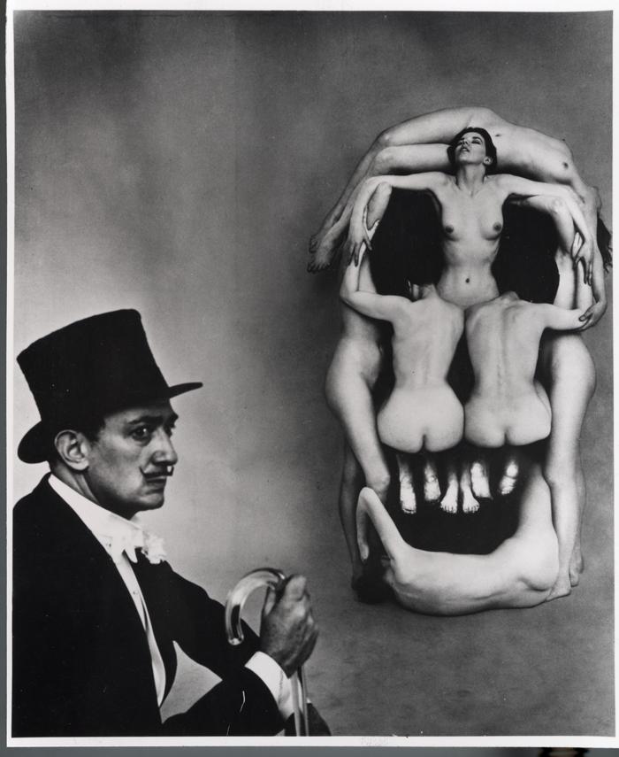 Philippe Halsman Dali koponyája (1951, Izrael Múzeum, Jeruzsálem) munkájának felhasználásával készült alkotás