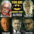 Alfred a Batman filmekben és sorozatokban: