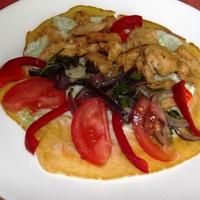 Saját készítésű tortilla csirkemellel