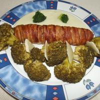 Hústekercs brokkolirózsákkal