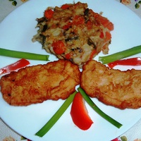 Bundás csirkemell zöldségkockával