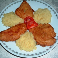 Krémsajtos bundában sült csirke mell filé