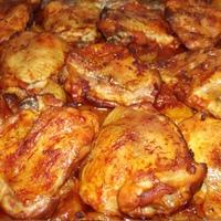 Tepsis csirke burgonyával, csodás szósszal