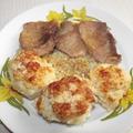 Karfiolrózsák sült hússal.