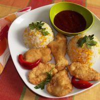 Illatos-omlós csirkefalatok.