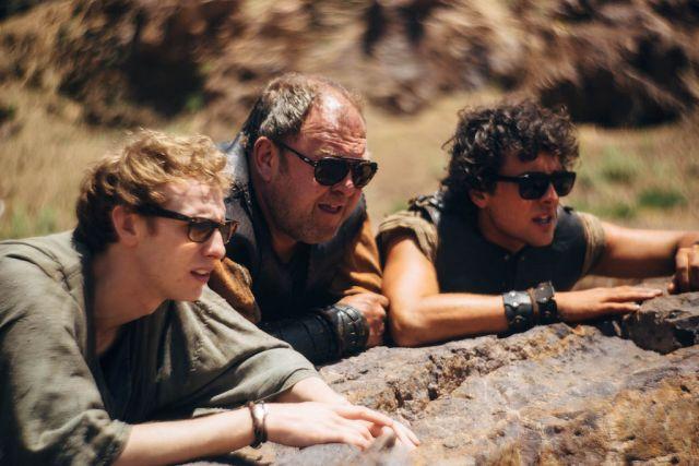 Atlantisz legyőzhetetlen triója: Robert Emms (Pitagorasz), Mark Addy (Herkules) és Jack Donnelly (Jason)