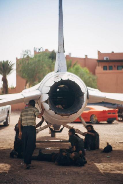 Ezt aligha látjuk majd az Atlantis második évadában - a vadászgép az Atlas stúdió állandó díszleteinek egyike.