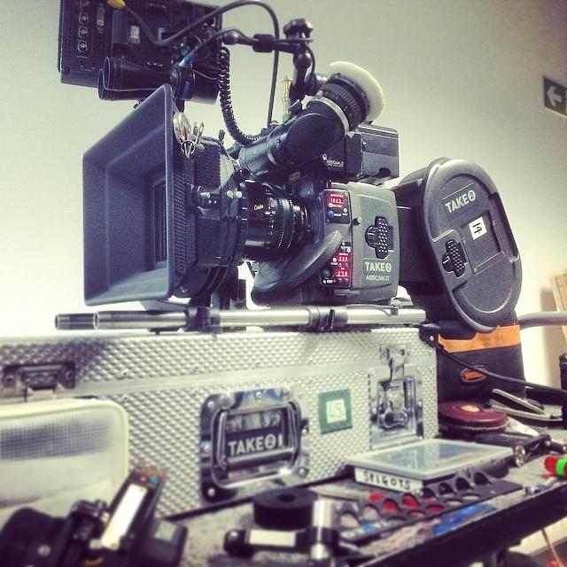 Munkára készen az Atlantis 35 mm-es kamerája, egy Arricam LT (fotó: Ed Moore)
