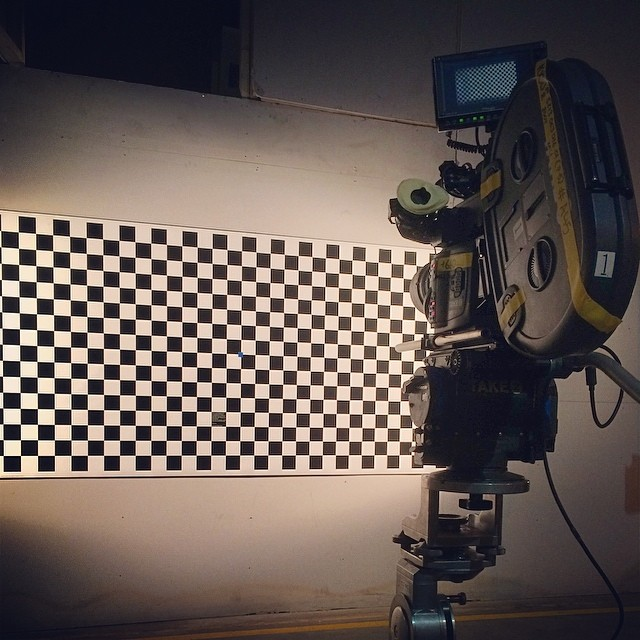 Zajlik a kamera beállítása a trükkfelvételekhez. (fotó: Ed Moore)