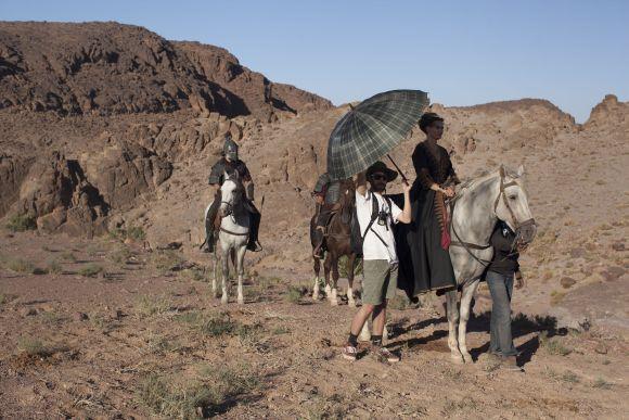 Forgatás a marokkói sivatagban