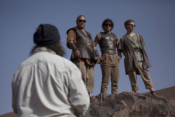 Napszemüvegben Mark Addy, Jack Donnelly és Robert Emms