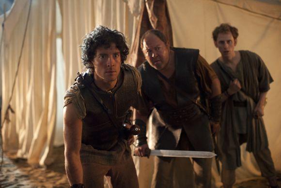 Atlantis triója: Jason (Robert Emms), Herkules (Mark Addy) és Pitagorasz (Robert Emms)
