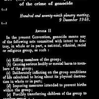 """""""A jelen egyezmény népirtás alatt a következő cselekmények bármelyikének (...) elkövetését érti..."""" (Magyarok (2011. Nagyhét))"""