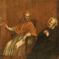 """Egy kép: """"Néri Szent Fülöp a pápánál"""""""