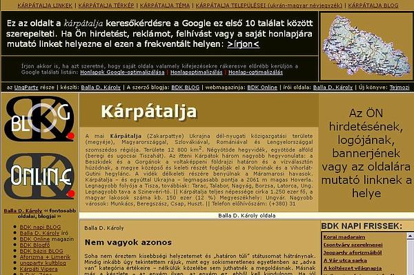 Kárpátalja honlap, magyarok