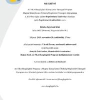 Újra Debrecenben avat emléktáblát a Hangfoglaló Program!