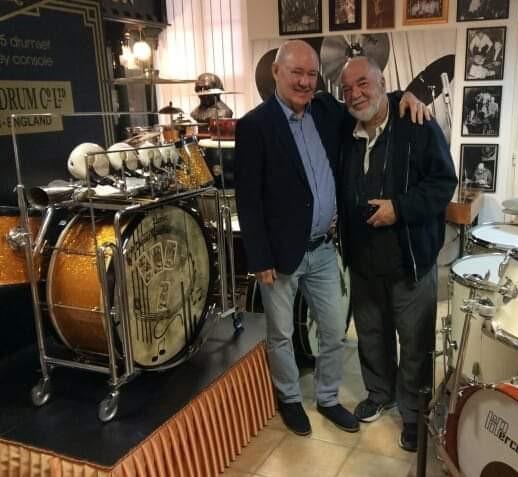 Peter Erskine-nel 2018 nyarán a múzeumban