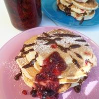 Ribizlis-joghurtos pancake