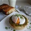 Spenótos mini quiche buggyantott tojással