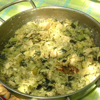 Cukkinis rizses hús