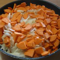 Édesburgonya hagymás sült krumpli módra
