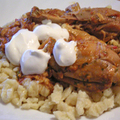 Paprikás csirke galuskával