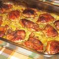 Csirkecomb krumplival tepsiben