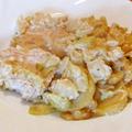Csirkemell krumpli alatt