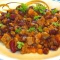 Bab, zöldség, hús – egytálétel