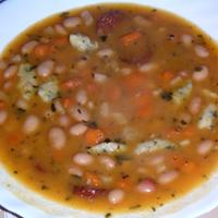 Fejtettbab-leves kolbásszal