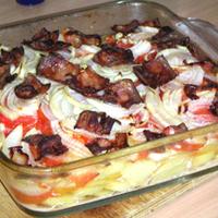 Hússal rakott krumpli