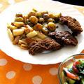 Rántott csirkemáj, újkrumpli, spárga
