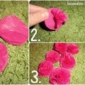 Papír rózsa 3 lépésben