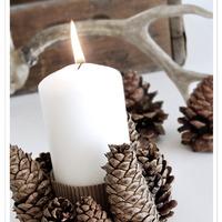 Dekorációk karácsonyra tobozból