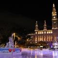 Csúszkálás a jégen Bécs szívében