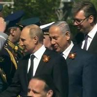 Netanjahu a Vörös téren