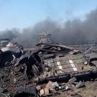 Ukrajna: Csatatér kilőtt tankokkal