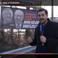 A harcos Orbán a moszkvai tévében
