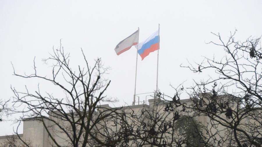Ukrajna - Szimferopol - orosz zszl.jpg
