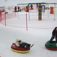 Snowtube a Tatár-hágón túl