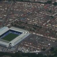 Egy liverpooli stadion a magasból