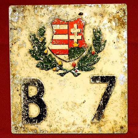 Egy régi rendszám