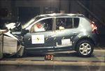 A biztonságon is spórol a Dacia, Törés: Dacia Sandero (2008)