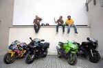 Telepi zsiványok -Honda VFR800F, Kawasaki ZX-9R, Triumph Daytona 675, Suzuki GS1200SS