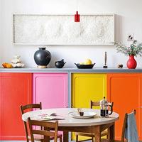 Napi kedvenc: rikító színű konyhaszekrény