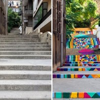 Így lesz egy város gyönyörű: színes lépcsők!