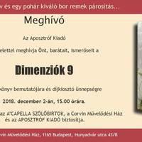 Hírek - Dimenziók 9 novelláskötet