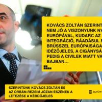 Itt a hangfelvétel Kovács Zoltán kormányszóvivő xenofób beszédéről