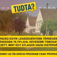 Megbukott a teszten az Ős-Dráva Program és a Fidesz is