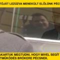 Kósa Lajos az autóját lezúzva menekült előlünk Pécsett